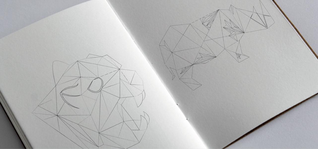 Création d'une collection d'illustrations en lowpoly pour Hubin par l'agence Cassian