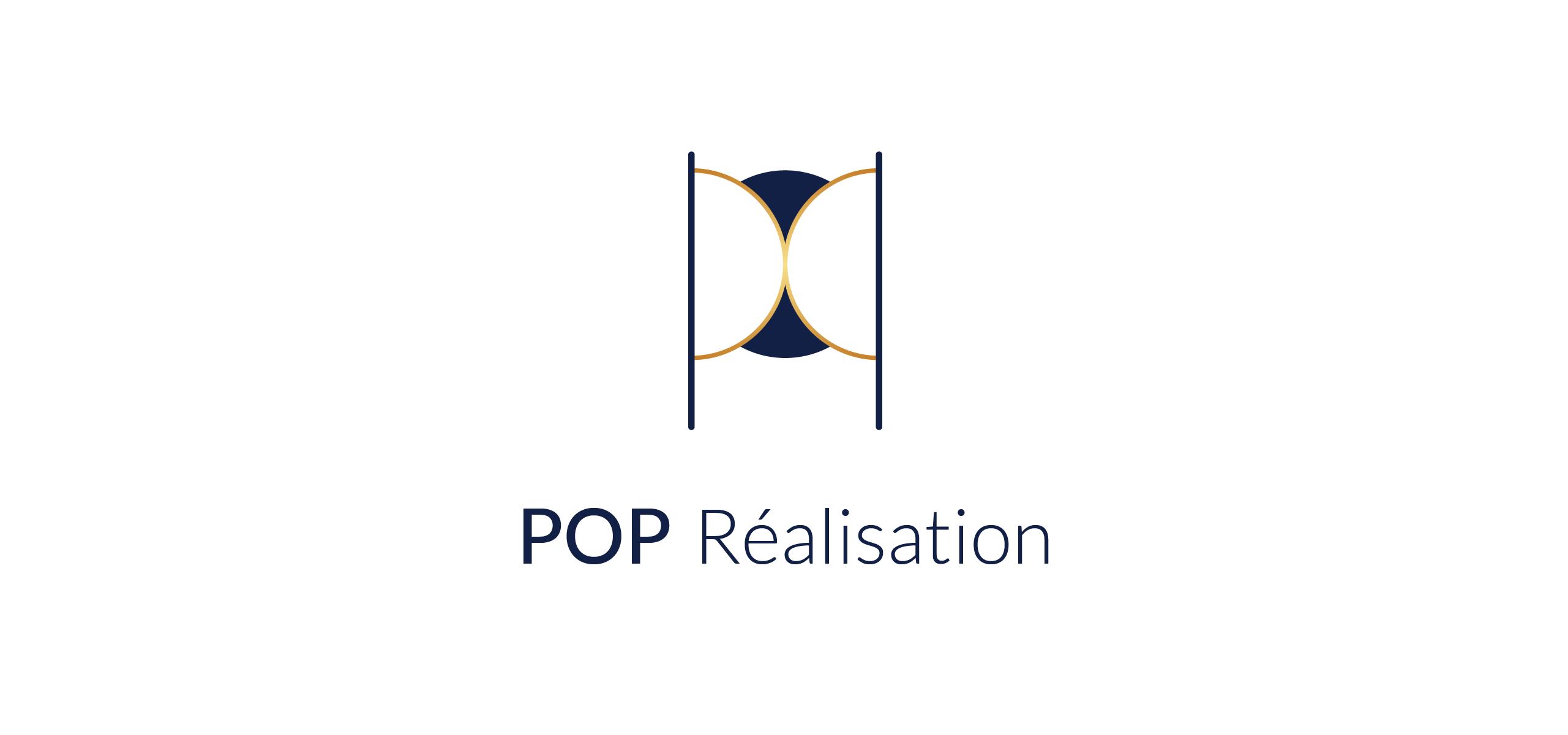 Création d'identité visuelle pour Pop Réalisation par l'agence Cassian