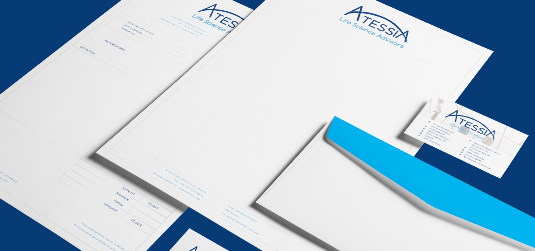 Communication, print, pitch deck … pour Atessia par l'agence Cassian