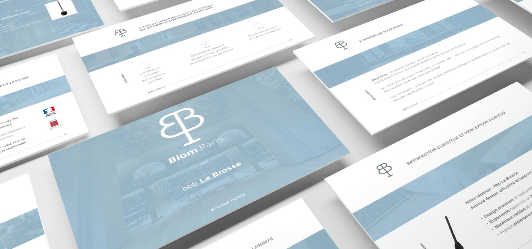 Communication, print, pitch deck … pour Biom Paris par l'agence Cassian