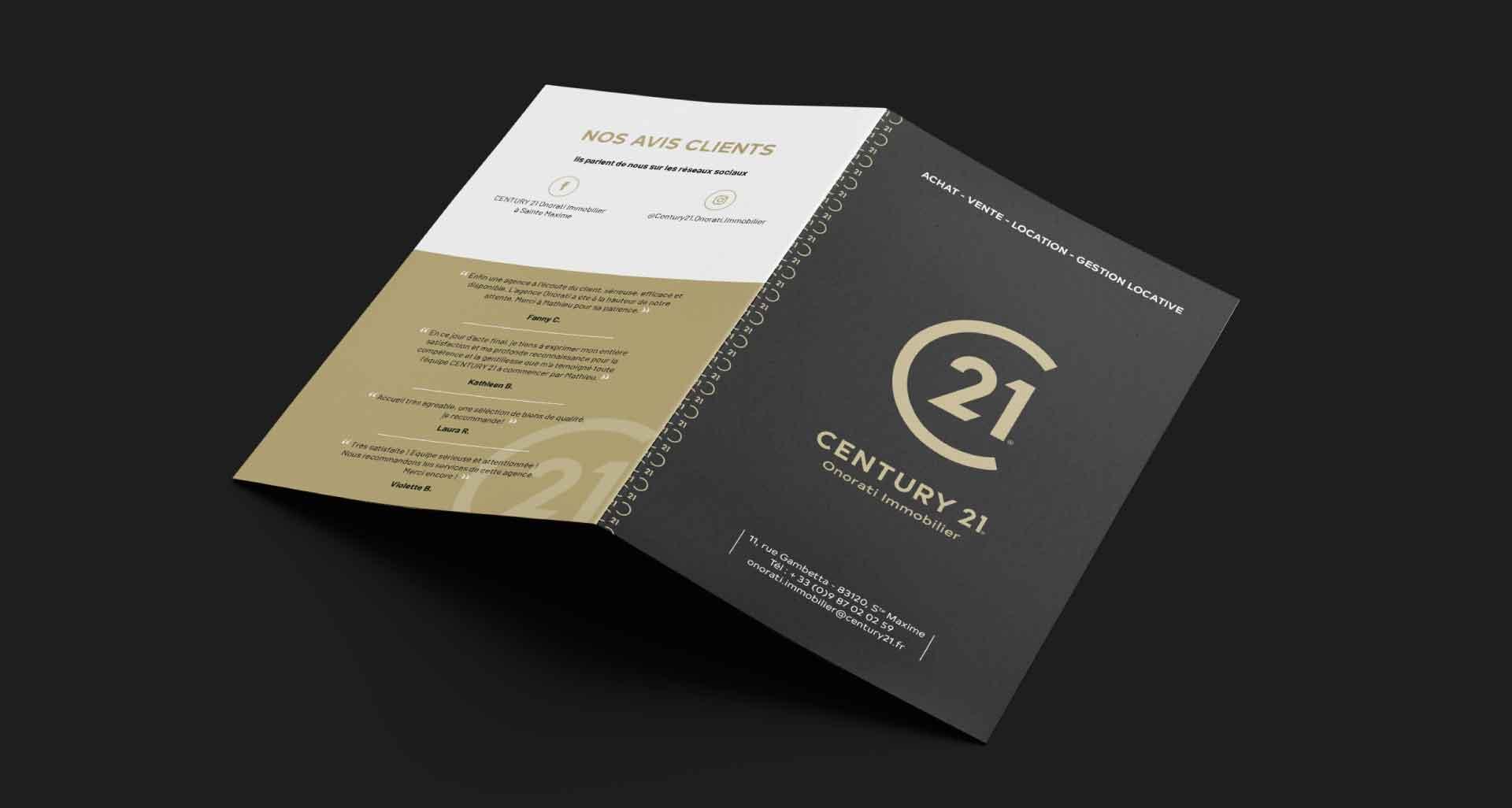 Projet pourCentury 21 Onorati par l'agence Cassian