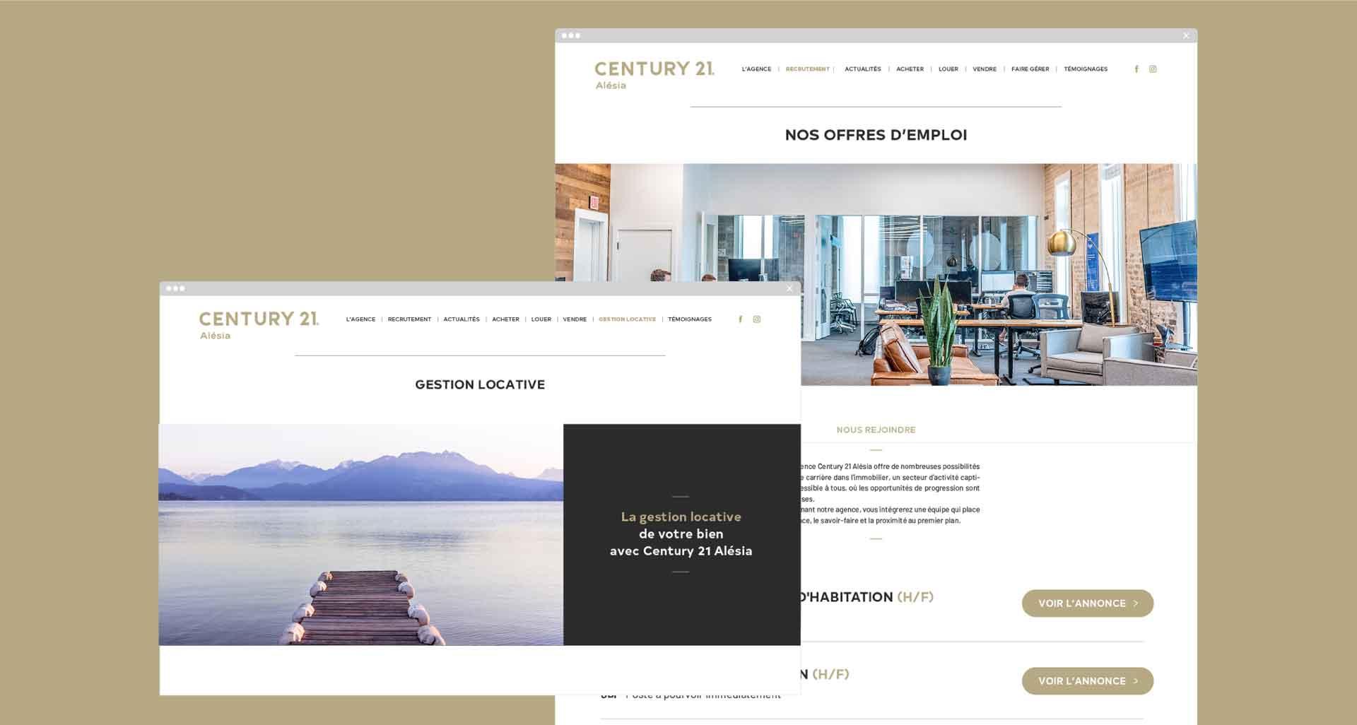 Site Internet pour Century 21 Alesia par l'agence Cassian