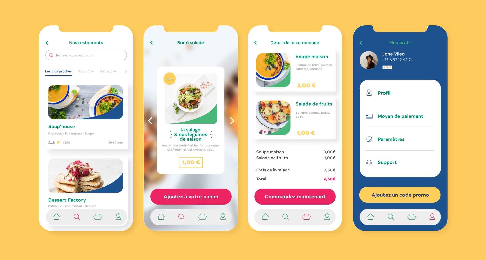 Refonte de l'identité graphique pour Food Food Go par l'agence Cassian