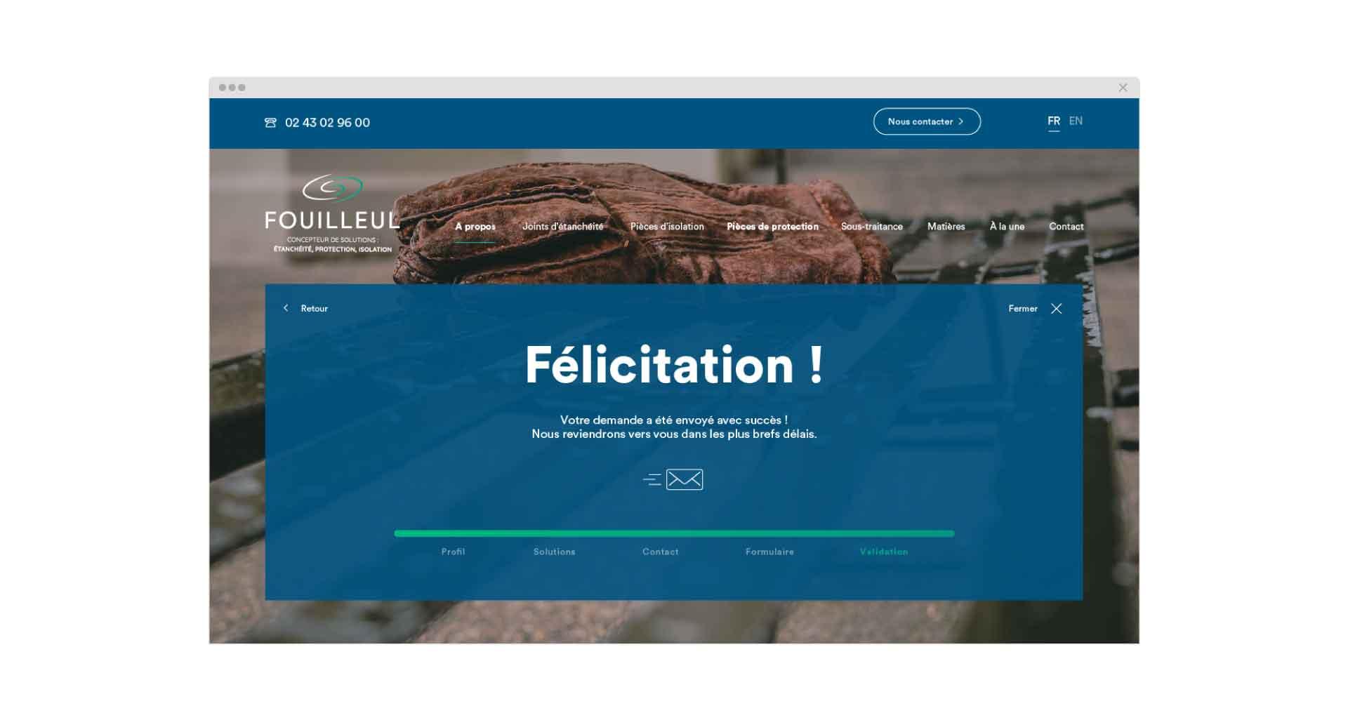 Site Internet pour Fouilleul par l'agence Cassian